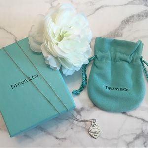 Tiffany & Co. • Sterling Silver heart necklace